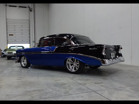 1956 Chevrolet Chevy Bel Air Custom in Black & Blue & Engine Sound - My Car Story with Lou Costabile