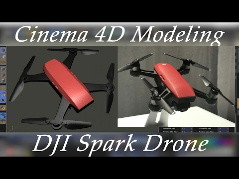 Cinema 4D DJI SPARK Modeling