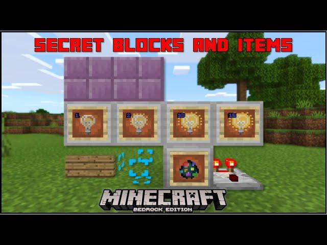 Minecraft Bedrock More Secret Blocks Items Mobile Xbox Ps4 Windows 10 Switch Youtube