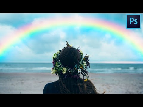How to Create a  Realistic Rainbow in Photoshop | Photoshop Tutorial thumbnail