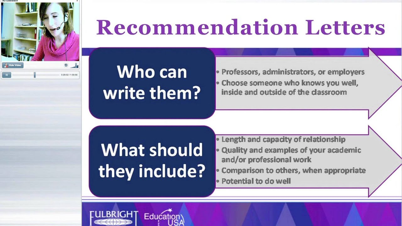 recommendation letters for applications to us universities