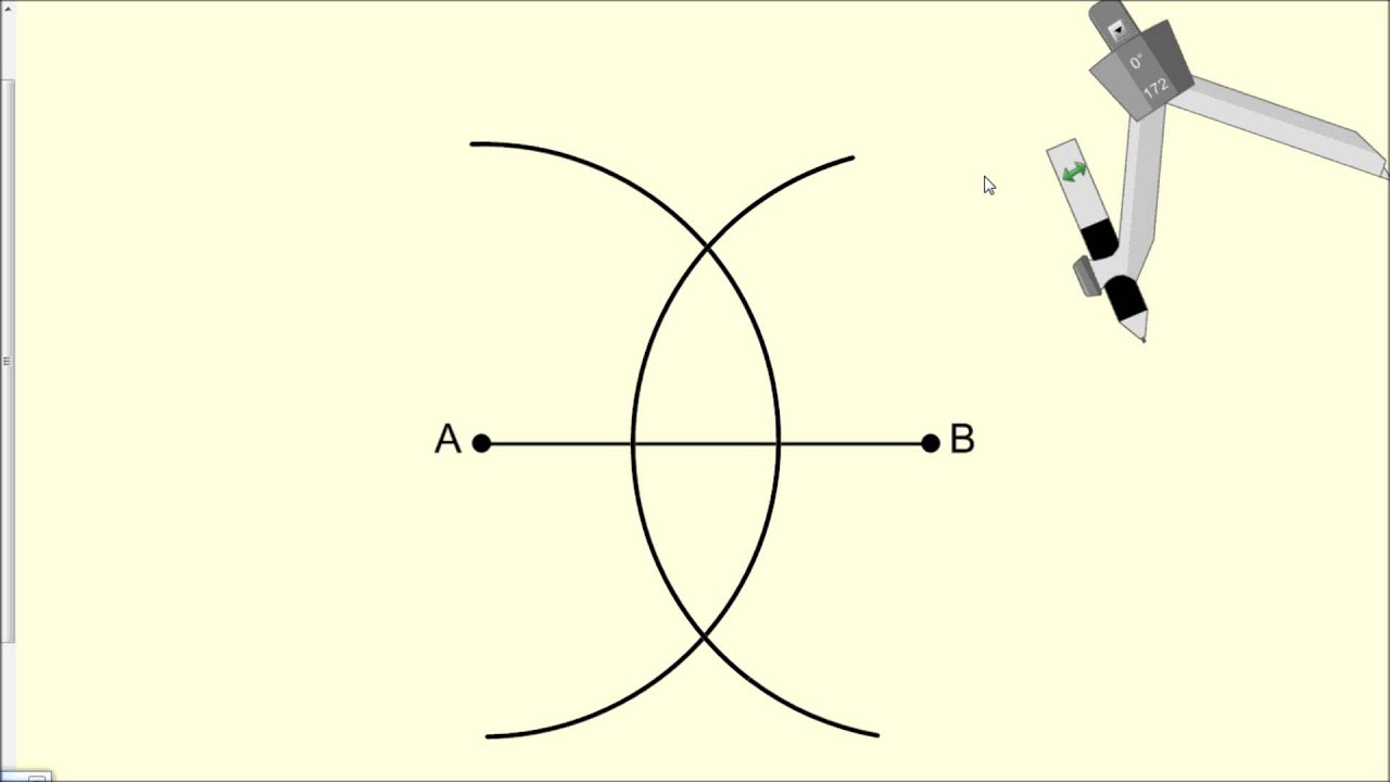 Constructing A Perpendicular Bisector Geometry Youtube
