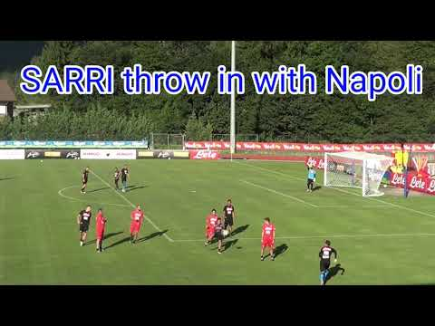 SARRI BALL, THROW IN, AT TIME WITH NAPOLI. #SARRI #NAPOLI