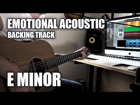 Emotional Acoustic Guitar Backing Track In E Minor