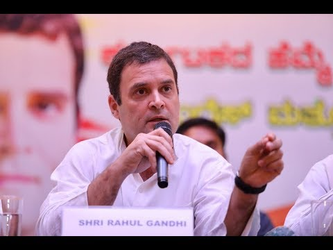 Congress President Rahul Gandhi addresses the Press in Bengaluru