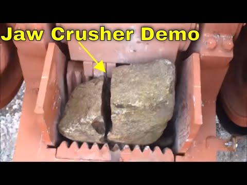 How Jaw Crushers Work!  Crushing stones, bricks, rocks, concrete, glass, etc.