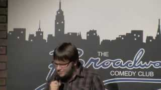 Chandler Dean performing at Broadway Comedy Club on October 18, 201...