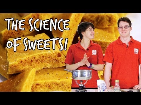 How to make honeycomb | The Science of Sweets | At-Bristol Science Centre