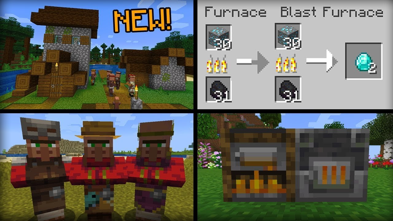 New Things Added In Minecraft 1 14 Update Youtube