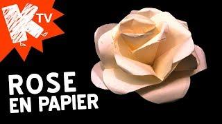 Rose en papier - Facile