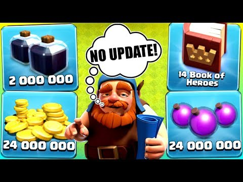 THE LAST EVER GEM SPREE IN CLASH OF CLANS!? - NO UPDATE!