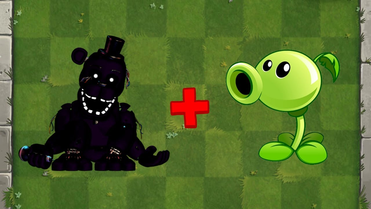 Shadow Freddy + Peashooter Fusion - Plants vs Zombies Animation