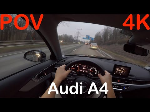 4K POV Audi A4 Sedan Autumn Day Drive + Quick Review - PointOfViewCars