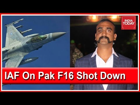 IAF Confirms WC Abhinandan Varthaman Shot Down Pakistan F-16 Fighter Jet
