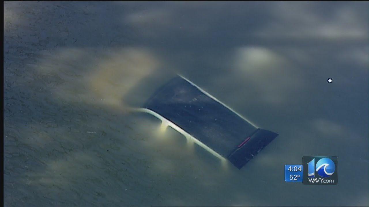 Vehicle Runs Off Road Into Water In Virginia Beach
