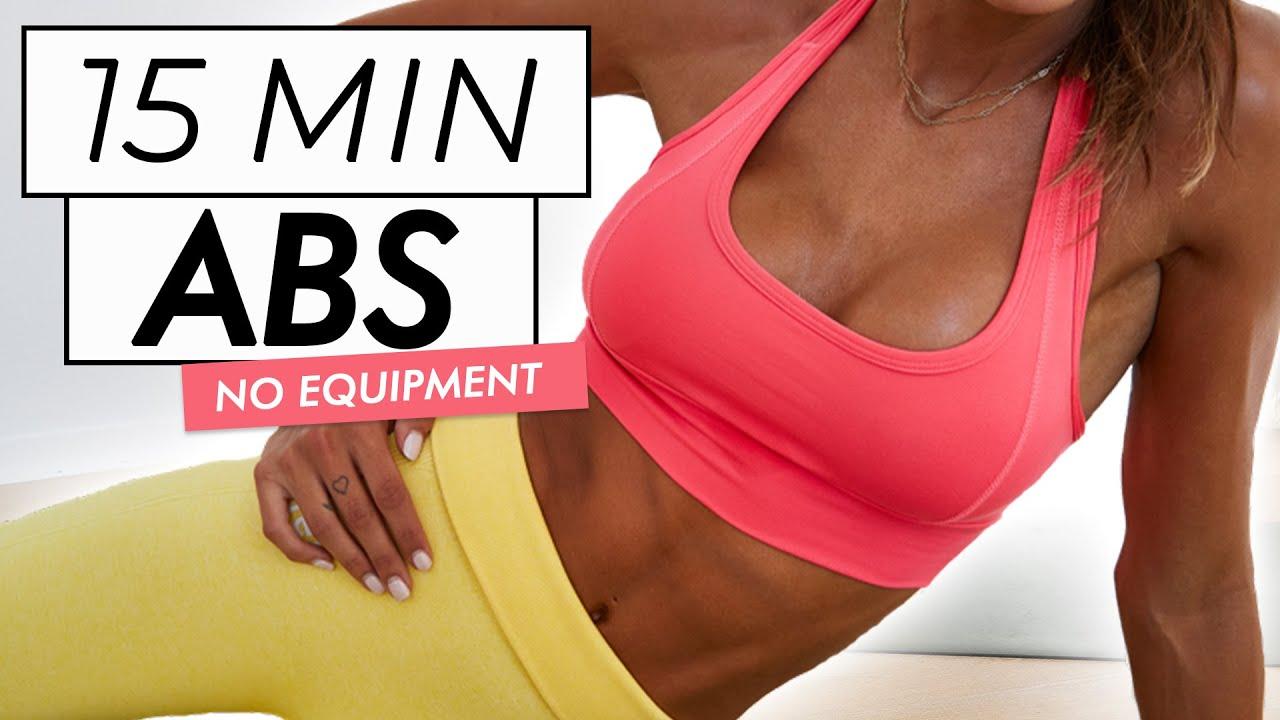 15 MIN AB WORKOUT // No Equipment - Flat Belly Toning // Sami Clarke