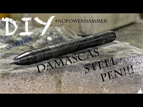 DIY Damascas steel pen!!!!