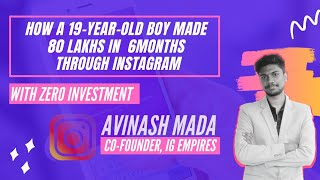 How a 19 Years Old College Student Earned 80 Lakh from Instagram | How to earn money online