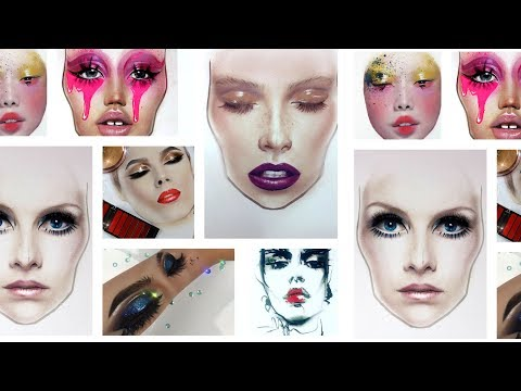 Face Charts   Make up drawing  done in 1,5 year by Liza Kondrevich