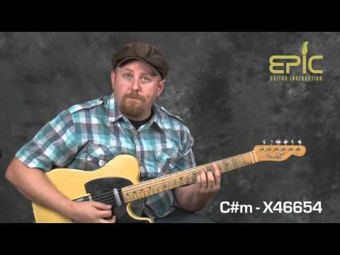 Learn modern country guitar song lesson Somebody like You by Keith Urban chords rhythms licks