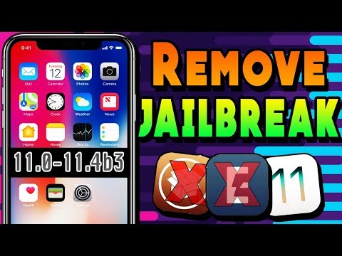 How to Unjailbreak iOS 11.0-11.3.1-11.4 Remove Cydia NO Update iPhone iPad iPod  [2019]