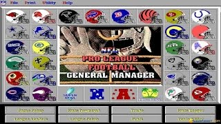 NFL Pro League Football (1995 version) gameplay (PC Game, 1995)