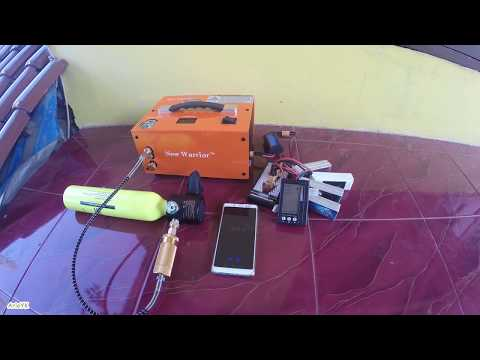 refilling-smaco-mini-diving-oxygen-tank-with-new-warrior-12v-high-pressure-air-compressor