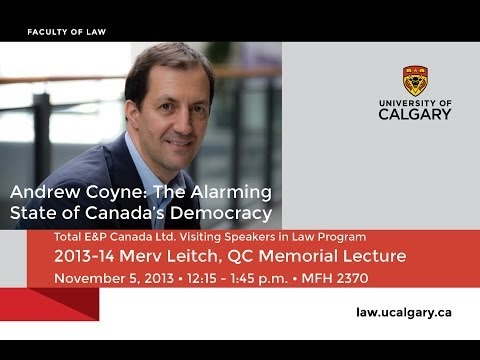 2013/14 Leitch Lecture with Andrew Coyne
