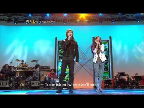 Lena Park & SHINee Onew - Lucky (Jason Mraz & Colbie Caillat # 박정현&샤이니 온유) @ 2010.11.20 Live Stage