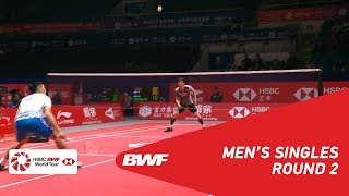 R2   MS   CHOU Tien Chen (TPE) vs SON Wan Ho (KOR)   BWF 2018