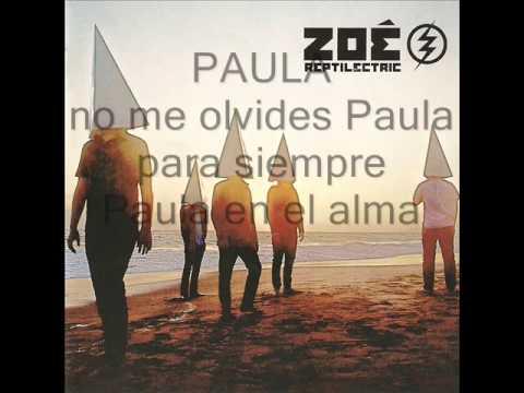 Zoe - Paula lyrics
