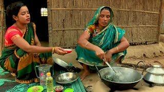 VILLAGE COOKING WITH COCONUT AND MUSTARD   নারিকেল ও সরিষা দিয়ে লাউশাক ভাজি