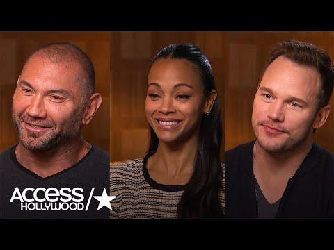 Chris Pratt, Zoe Saldana & Dave Bautista On Getting Made Up For 'Guardians: Vol. 2'