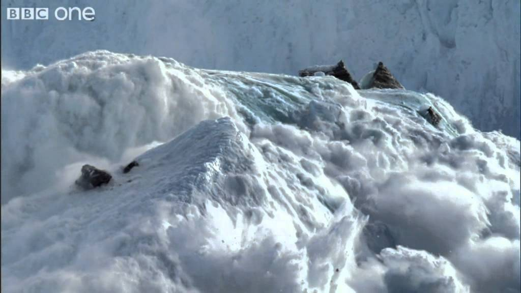 Formation of an iceberg - Frozen Planet - BBC One