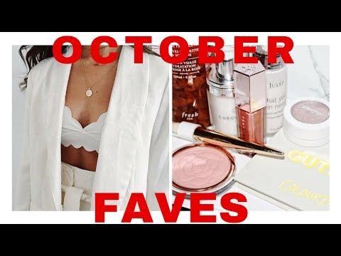 OCTOBER FAVORITES ♡ MAKEUP, SKINCARE, FASHION
