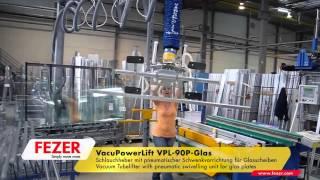 Вакуумный рукавный подъемник для захвата листового стекла(С помощью вакуумного рукавного/шлангового подъемника VacuPowerLift VPL можно легко вращать и поворачивать стекло..., 2016-04-13T09:41:19.000Z)