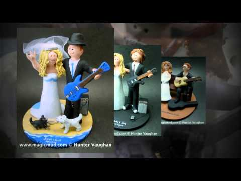 Guitarist's Wedding Cake Toppers