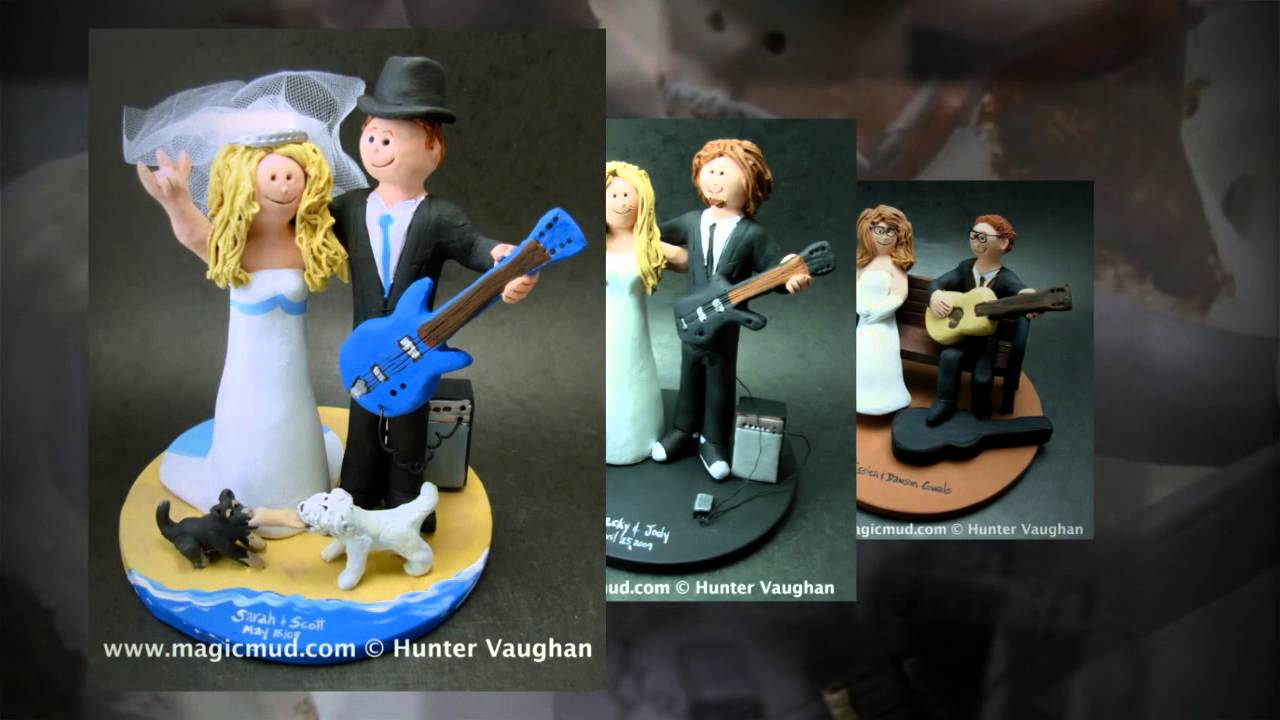 guitar player wedding cake topper guitarist s wedding cake toppers 15015