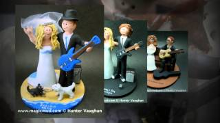 Guitarist's Wedding Cake Toppers | wedding cake toppers