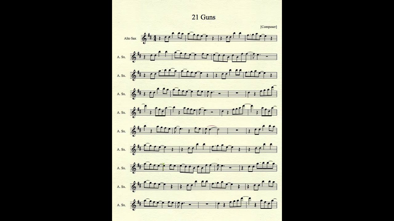 recipe: 21 guns piano letter notes [12]
