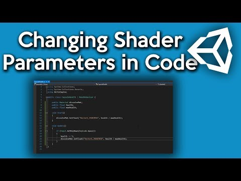 Unity Shader Graph - Changing Parameters in Script - YouTube