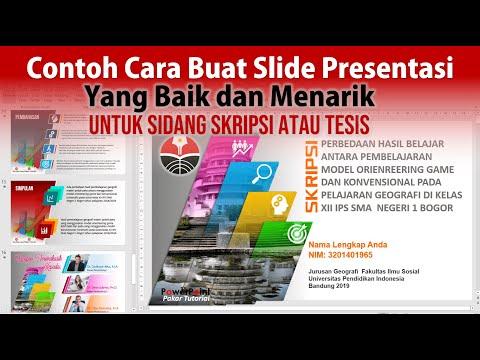 Contoh Cara Membuat Slide Presentasi untuk Sidang Skripsi atau Tesis