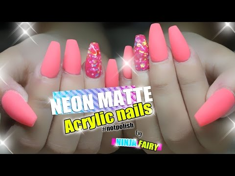How To COFFIN SHAPE ACRYLIC NAILS Designs