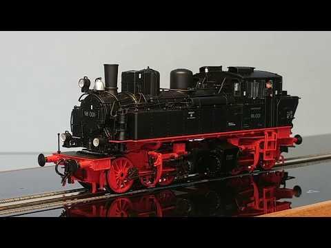 Modellbahn H0 Baureihe 98 Gützold 53100 BR 98 001 DR auf dem Smartrail / Schienenlaufband
