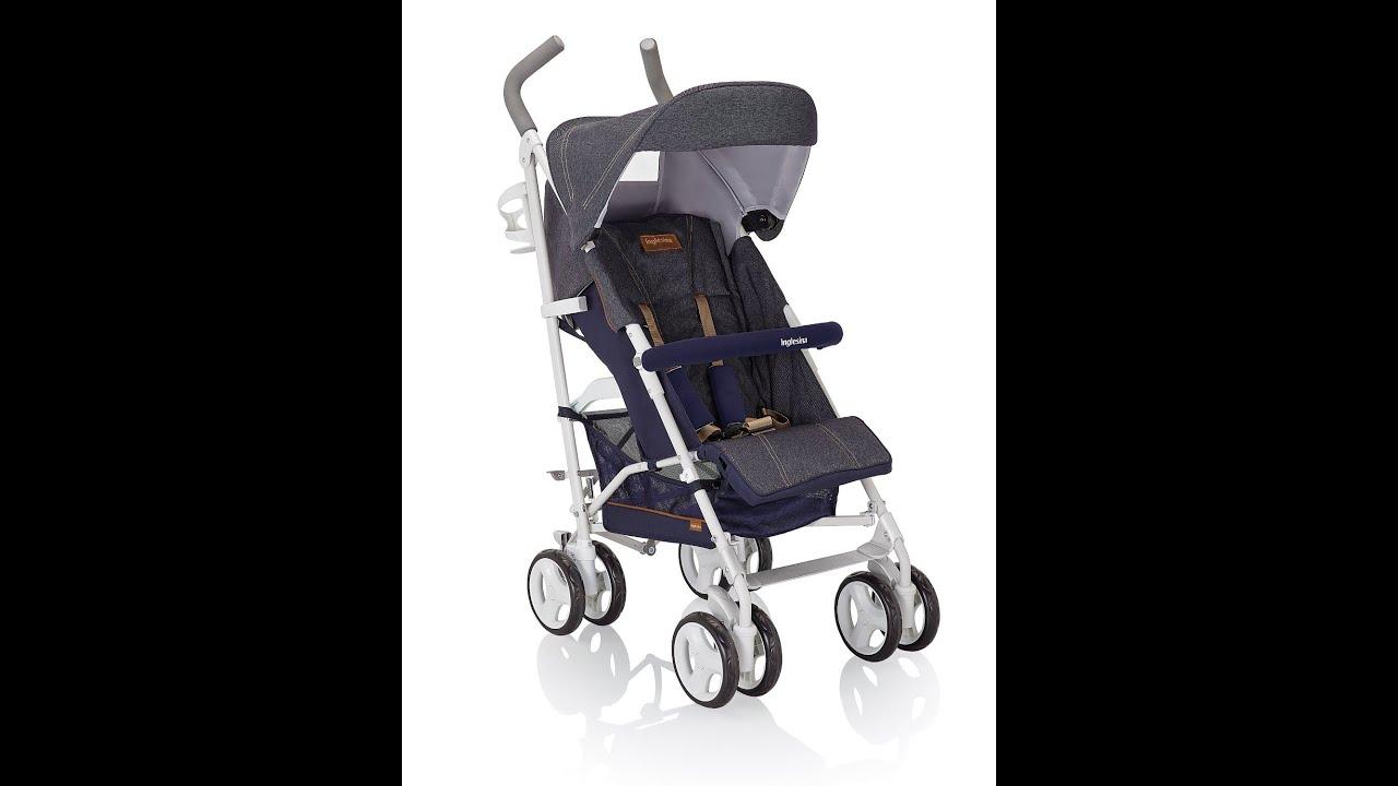 Inglesina silla ligera de paseo trip jeans azul youtube - Silla ligera paseo ...