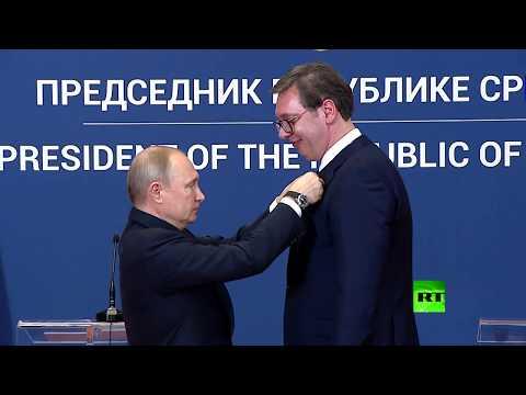 بوتين يقلد وسام -ألكساندر نيفسكي- للرئيس الصربي  - نشر قبل 3 ساعة