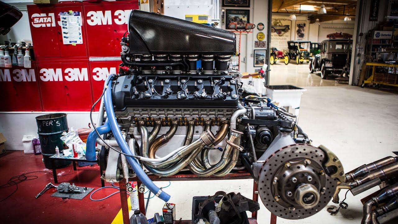 engine extraction mclaren f1 jay leno s garage [ 1280 x 720 Pixel ]