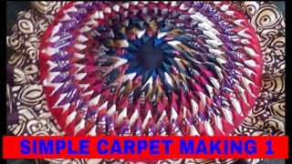 CARPET MAKING USING WASTE CLOTH 1