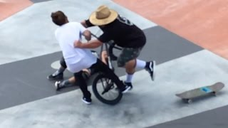 Dad Assaults BMX Rider After Colliding With Son