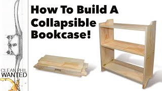 How to build a Collapsible Bookcase (Campaign Furniture Build) with Hand Tools.